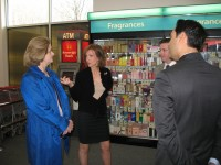 Congresswoman Nan Hayworth (center), along with Somers Town Supervisor Mary Beth Murphy, spoke with CVS employees about their jobs.