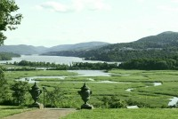 The sweeping view of the Hudson River from behind the Boscobel House. DONNA BLANEY PHOTO