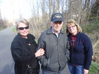 Putnam County residents Caren Mack and Patty Bogucki, out with their father Fran Weis for a walk on the bike path this past Saturday afternoon, said they walk the path every day for exercise.