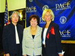 Pace Women's Justice Center Executive Director Jane Aoyama-Martin, Congresswoman Nita Lowey and Westchester Country District Attorney Janet DiFiore pushed Monday for the reauthorization of the Violence Against Women Act at Pace Law School.