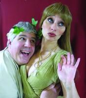 Douglas DeMarco plays Senex, Christine Gavin plays Philia
