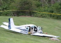 A small craft crashed on to the southern lawn of IBM's T.J. Watson Research Center in Yorktown