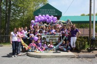Students from St. Patrick's School participated in the 2011 Paint the Town Purple Event in Yorktown.
