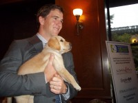 Eli Manning came out to support Guiding Eyes for the Blind at its kick-off to the 35th Annual Guiding Eyes for the Blind Golf Classic.