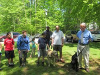 Rabbi Fred Schwalb and members of the Hebrew Congregation of Somers -- along with their furry friends -- took part in the third annual Bark Mitzvah, a special prayer ceremony honoring pets.