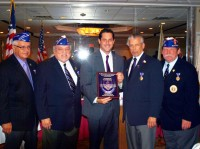 Sen. Greg Ball received the Special Recognition Award from the Military Order of the Purple Heart for his support of veterans' affairs.