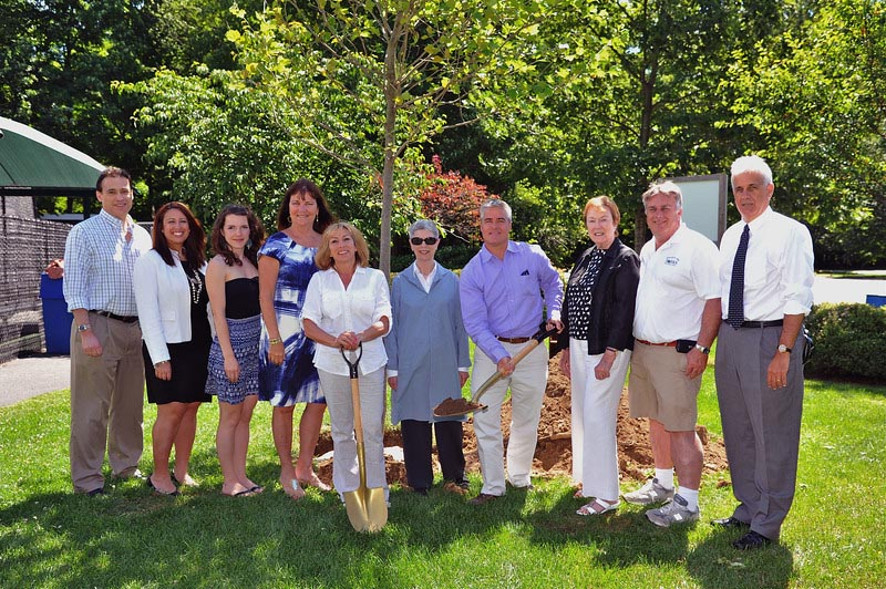 From left to right: Peter Tartaglia, deputy commissioner of Westchester County Parks; Joanne Fernandez, FWCP executive board member; Corinna Ricard-Farzan, Green Mountain Energy partnership coordinator; Kathy O'Connor Westchester County Parks commissioner; Jennifer Murphy, Green Mountain Energy sales manager, Westchester County; Judy Matson, FWCP executive board member ; Chris Cawley, FWCP vice-chairman of the board; Shirley Phillips, FWCP executive board member; Jack Walsh, Ridge Road Park superintendent; Joseph Stout, FWCP executive director.