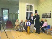 """Leg. John testa with """"Abe Lincoln."""""""