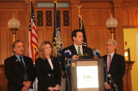 Sen. Ball and Assemblyman Katz said at a press conference that they would support a gun owner's rights.