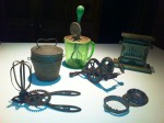 "A sampling of gadgets in The Home Guru's kitchen with the ""family heirloom,"" an egg slicer from his childhood, on the right."