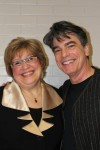 Byram Hills School District Director of Fine Arts Joy Varley and actor Peter Gallagher, at the school's Jan. 14 alumni concert.