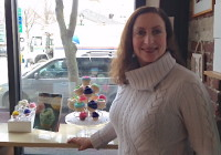 Jennifer Appel at the Buttercup Bake Shop on Martine Avenue in White Plains.