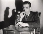 "Humphrey Bogart as Sam Spade in John Huston's classic ""The Maltese Falcon,"""