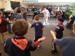 "Local scouts learn how to sword fight from ""Peter Pan"" cast members."