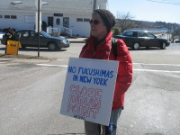 Protesters demanded the closure of indian Point last week.