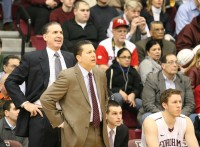 Fordham University Assistant Coach Tom Parrotta (left) is a 1984 graduate of Stepinac High School. He has Rams Head Coach Tom Pecora's back once again, as he joined Pecora's staff this season. Pecora and Parrotta also coached together at Hofstra University from 2001-'06. Photo by Albert Coqueran