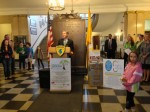 White Plains Mayor Tom Roach officially kicks off Earth Week with a press conference on Earth Day, Monday, April 22.