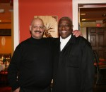 "White Plains Examiner Sports Writer Al Coqueran (left) and Dereck Whittenburg, the Executive Producer of the ESPN documentary ""Survive and Advance"" have been friends since 2004. Photo courtesy of Hacienda Azteca."