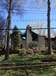 The Lake Shore Drive House in Pleasantville that was heavily damaged in a Thursday night fire.