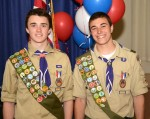 "Salvatore (""Torey"") Caruso and Declan Cunningham were honored by Boy Scout Troop 14"