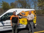 Pop-A-Lock co-owner Richie Harold, right, with locksmith John Morales