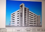 Rendering of new Lyon Place garage.