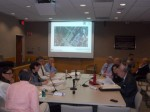 The New Castle Planning Board and ARB discussed the visual impacts of the proposed affordable housing project last week.