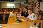 A roundtable discussion on school safety was held on Saturday at Westlake High School, which included, foreground right to left, Mount Pleasant Police Chief Louis Alagno, state Sen. Greg Ball and Mount Pleasant Superintendent of Schools Dr. Susan Guiney.
