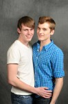 "Dylan Meehan (left) and Brad Taylor were named Carmel High School's ""Cutest Couple"" in the school's yearbook. Their story gained widespread attention following a friend's blog post."