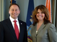 Melissa Staats with County Executive Robert Astorino.