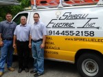 Spirelli Electric in Shrub Oak is a family run business. Show above, from the left are: electrician Joe Spirelli, his father, Pat Sr., who owns the business, and Pat Jr., who serves as the business' vice president.