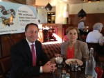 County Executive Rob Astorino with ArtsWestchester Executive Director Janet Langsam