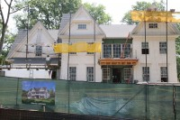 "The new ""healthy home"" currently under construction at 8 Kent Road in Scarsdale. Christopher Banuchi Photo."
