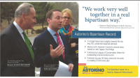Front side of a contested Astorino campaign mailing.