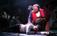 Jean Valjean with Marius.