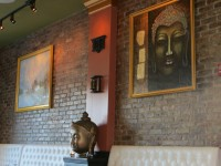 The ambiance in the new Himalayan restaurant is calming, with tranquil landscapes and spiritual art adorning the walls.