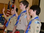 Troop 73 White Plains Presents Rank of Eagle to Three Scouts