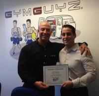GYMGUYZ founder Josh York, left, and Westchester franchise owner Sam Langer.