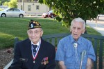 Jack Carosi, left, and Eugene Thomas Cavanaugh, Jr., the two D-Day veterans honored last Friday by American Legion Post 112 in Hawthorne on the 70th anniversary of D-Day.