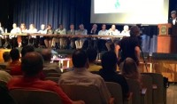 "The Gedney Association Board held an informational meeting titled ""White Plains at the Crossroads, June 4th."