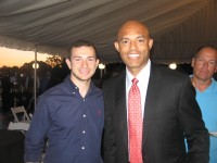 New York Yankees star Mariano Rivera graciously posed with hundreds of fans and admirers at Friends of Karen benefit. Rick Pezzullo Photo