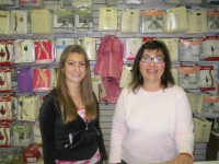 Mohegan Lake resident Susan Stanford, right, owner of Ms. Dancewear Inc. and the store's manger Melissa Amoroso of Mahopac. Photo credit: Neal Rentz