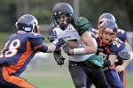 Grid Notebook Yorktown Rides Santavicca Shuttle to 32-21 Win over Greeley Somers, Lakeland, Panas Remain in Playoff Hunt; Mahopac, Carmel Alive in AA