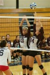 Harrison volleyball team plays well, but can't top Byram Hills, 3-2