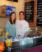Kristin and John Caldarola, owners of Village Creamery & Sweet Shop. PHOTO: Colette Connolly