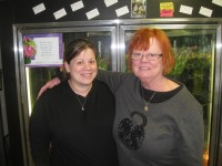 Cortlandt resident Tara Scozzafava-Baisley, shown above with her mother, Billie Scozzafava, has owned Putnam Valley Florist for 11 years. Photo credit: Neal Rentz