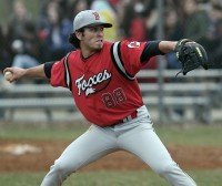 Fox Lane's Aaron Winkler pitches in last Thursday's game at Ketcham.