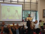 Children's Book Illustrator Shows GW Elementary Kids How it's Done