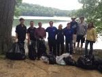 Mt. Kisco, No. Castle Volunteers Clean Up Shores of Byram Lake
