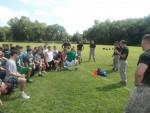 Marines Help P'ville Football Team Enhance Leadership Skills